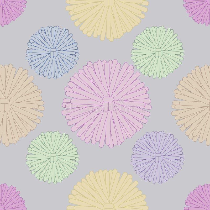 Mehrfarbige POM-poms stock abbildung
