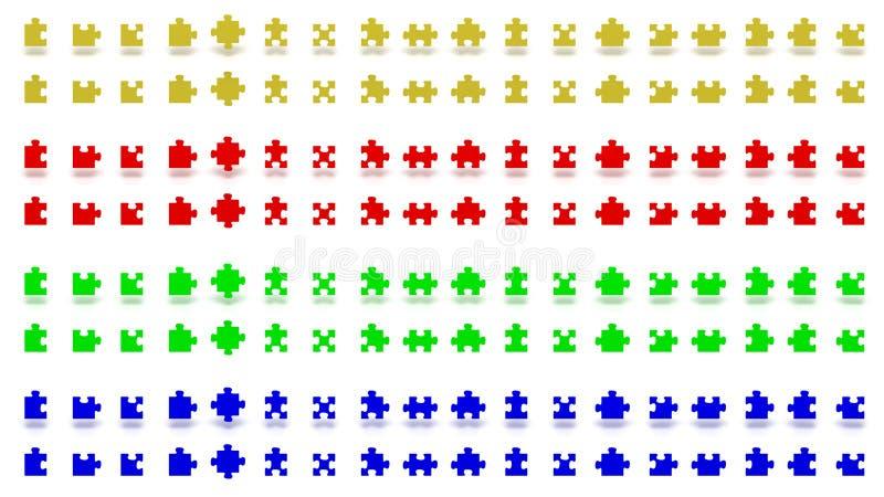 Mehrfarbige Puzzlespielstücke stockfotografie