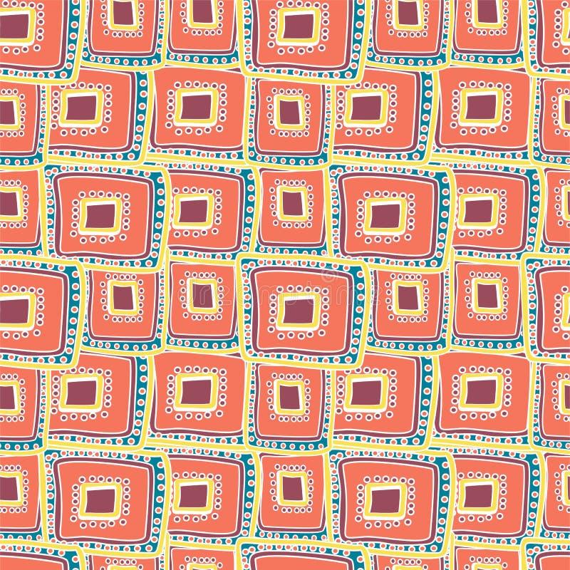 Mehrfarbige Rechtecke, die auf einander überlagern stock abbildung
