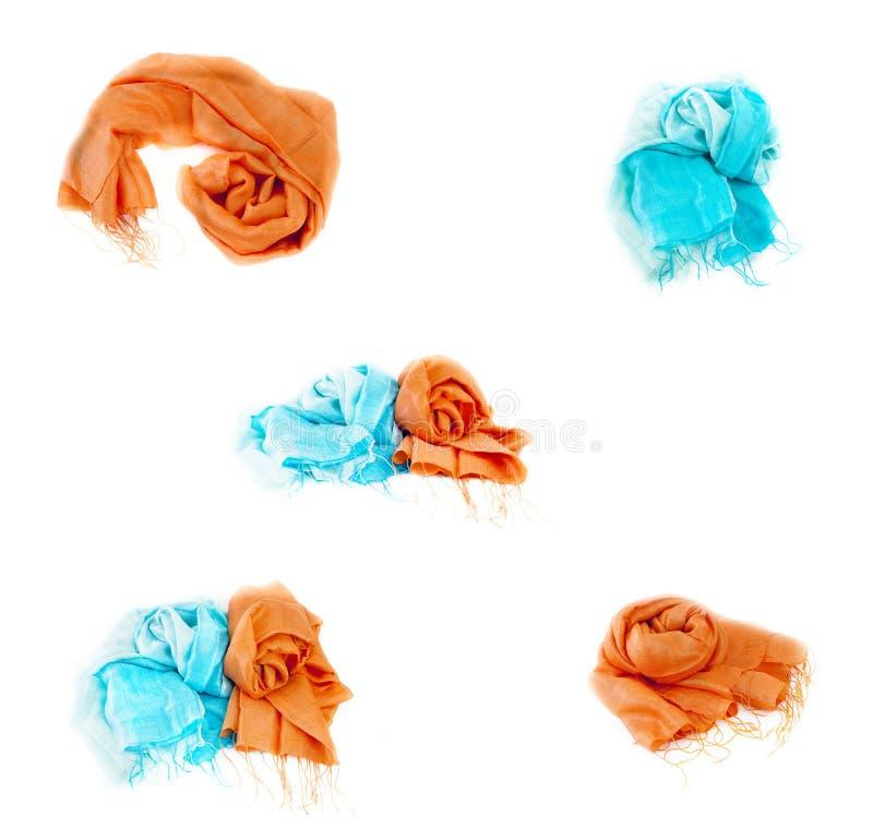 Mehrfarbige Schals lizenzfreie stockbilder