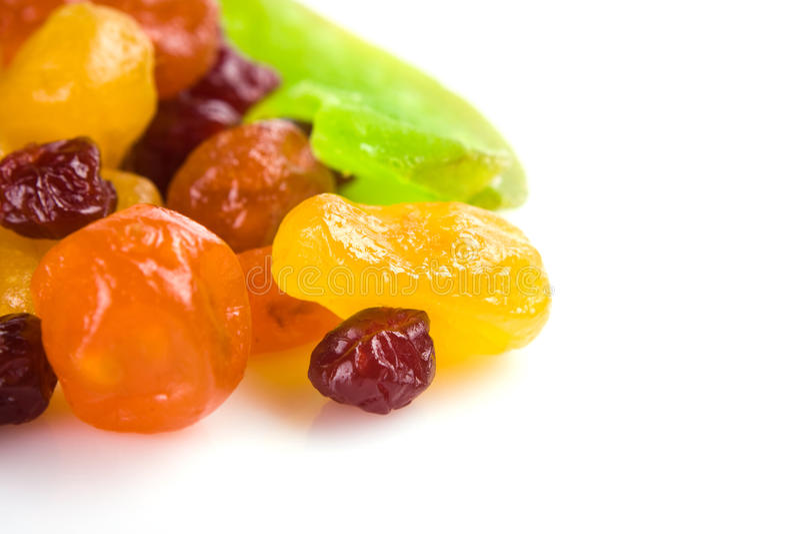 Mehrfarbige Scheiben der getrockneten Früchte stockfotografie