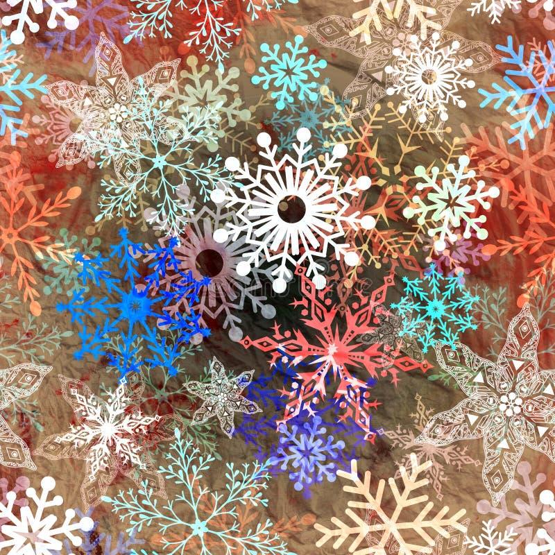 Mehrfarbige Schneeflocken lizenzfreies stockfoto