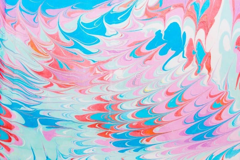 Mehrfarbige Stellen, spritzt von der Farbe auf Papier, stockfoto