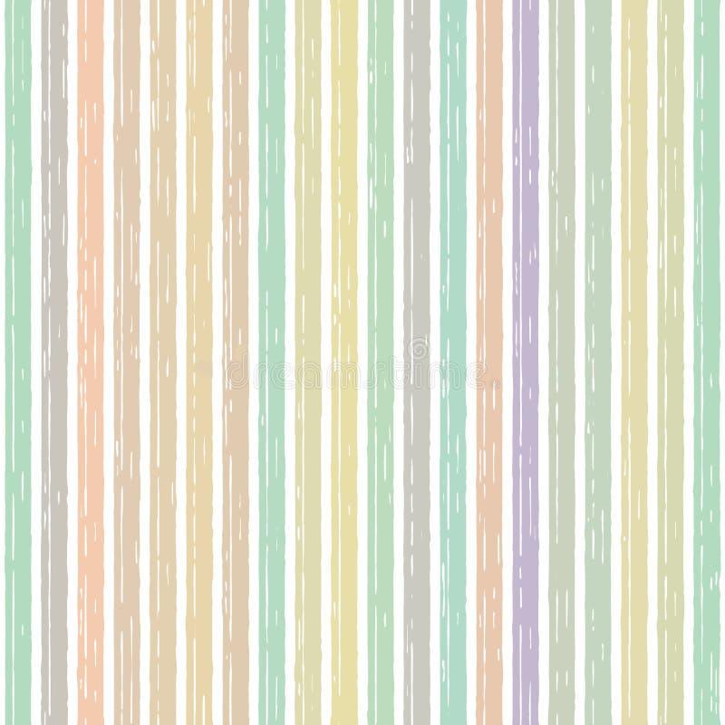 Mehrfarbige Streifenregenbogenlinie streifte klar vektor abbildung