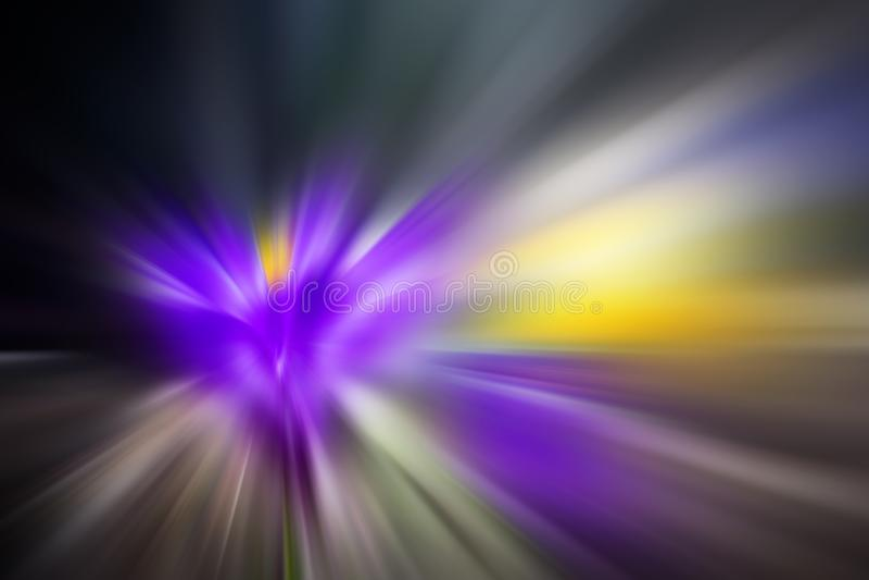 Mehrfarbiger Blitz entziehen Sie Hintergrund Foto mit grellem Effekt stockfotos