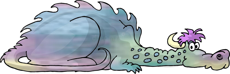 Download Mehrfarbiger Drache stock abbildung. Illustration von gefärbt - 32336