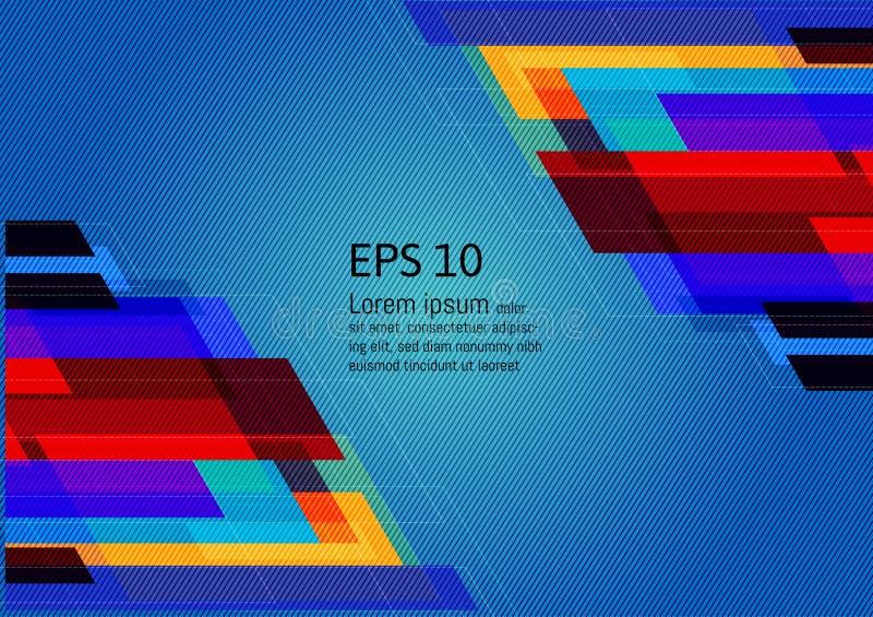 Mehrfarbiger geometrischer abstrakter Hintergrund mit Kopienraum, Vektor-Illustration EPS10 lizenzfreie abbildung