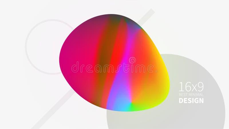 Mehrfarbiger Hintergrund des futuristischen Designs Schablonen für Plakate, Fahnen, Flieger, Darstellungen und Berichte Minimale  lizenzfreie abbildung