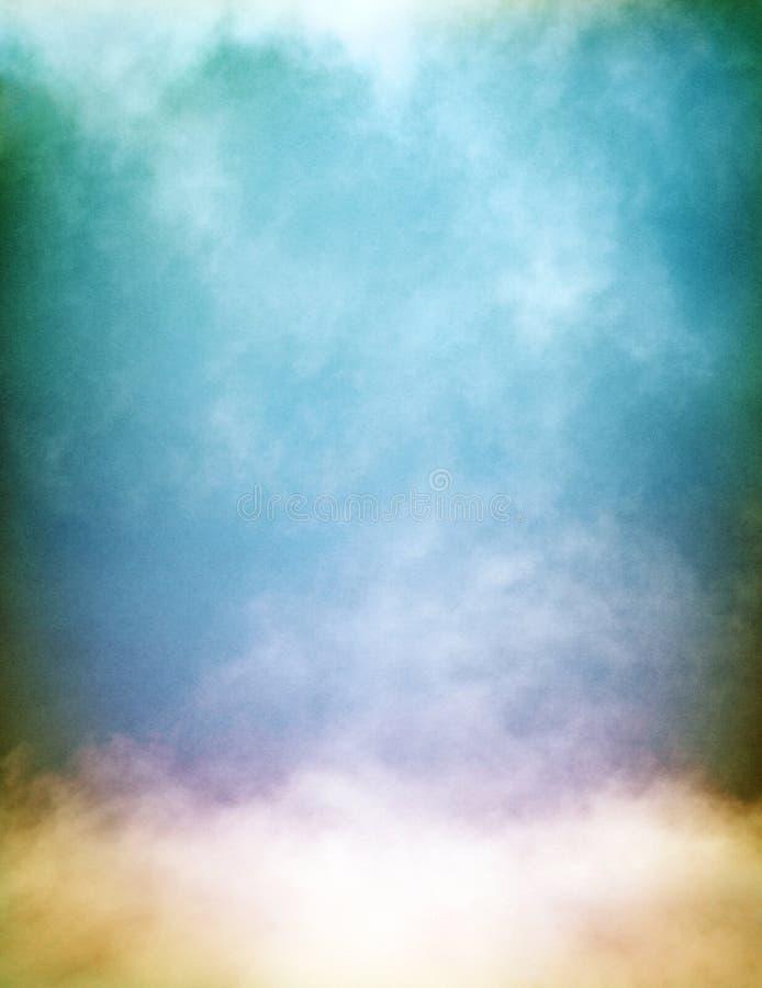 Mehrfarbiger Nebel und Wolken stockbilder