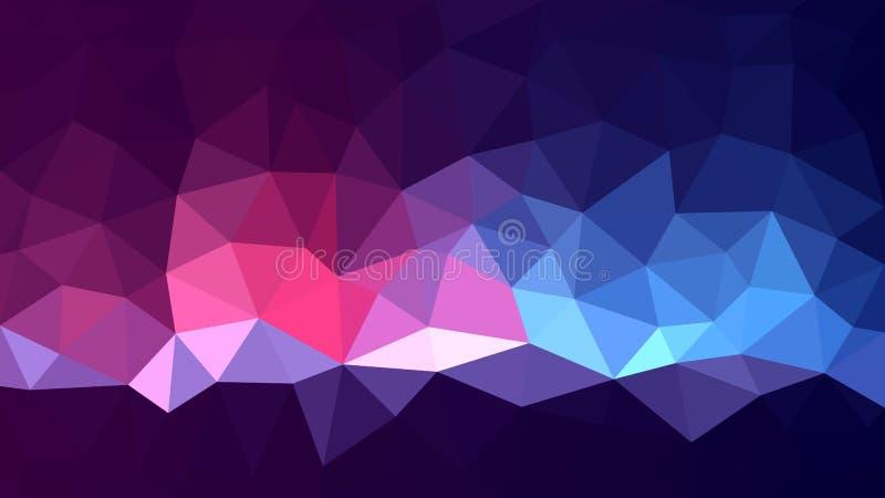 Mehrfarbiger niedriger Polyhintergrund Magischer abstrakter Polygonentwurf vektor abbildung