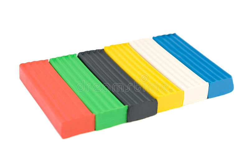 Mehrfarbiger Plasticine lizenzfreies stockbild