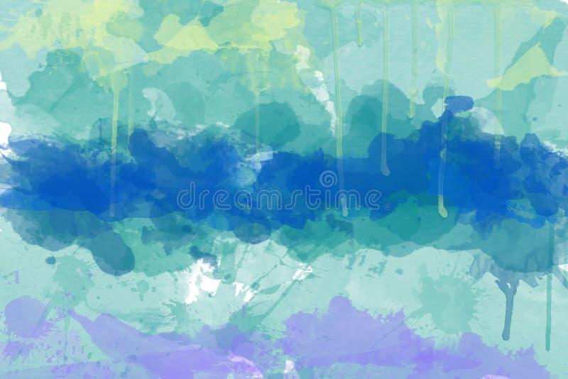 Mehrfarbiger Punkt, Watercolourauszug stockfotos