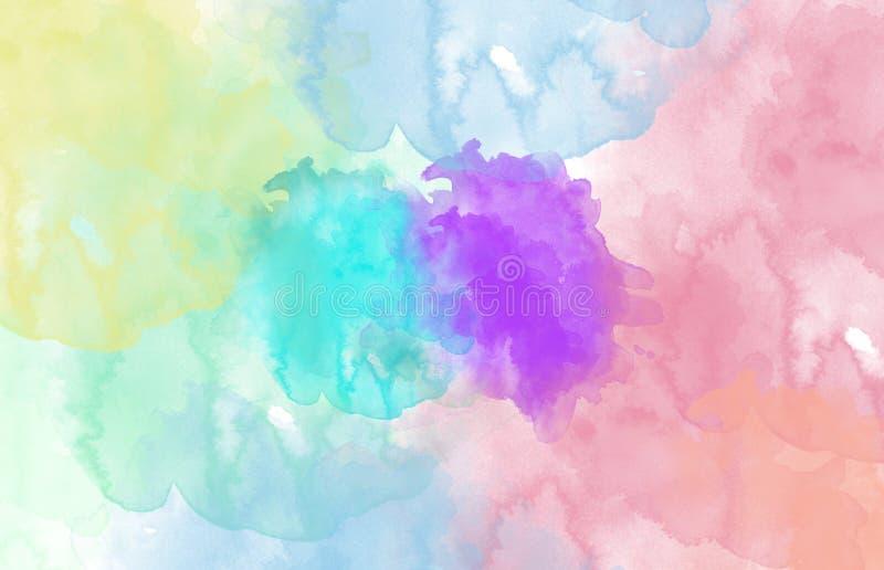 Mehrfarbiger Punkt, Watercolourauszug stockbilder