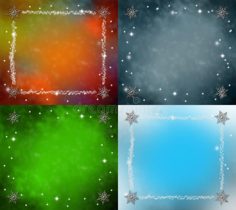 Mehrfarbiger Sammlungsweihnachtshintergrund lizenzfreie abbildung