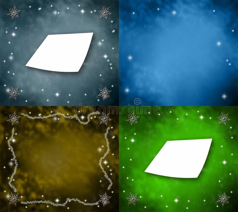 Mehrfarbiger Sammlungsweihnachtshintergrund stock abbildung