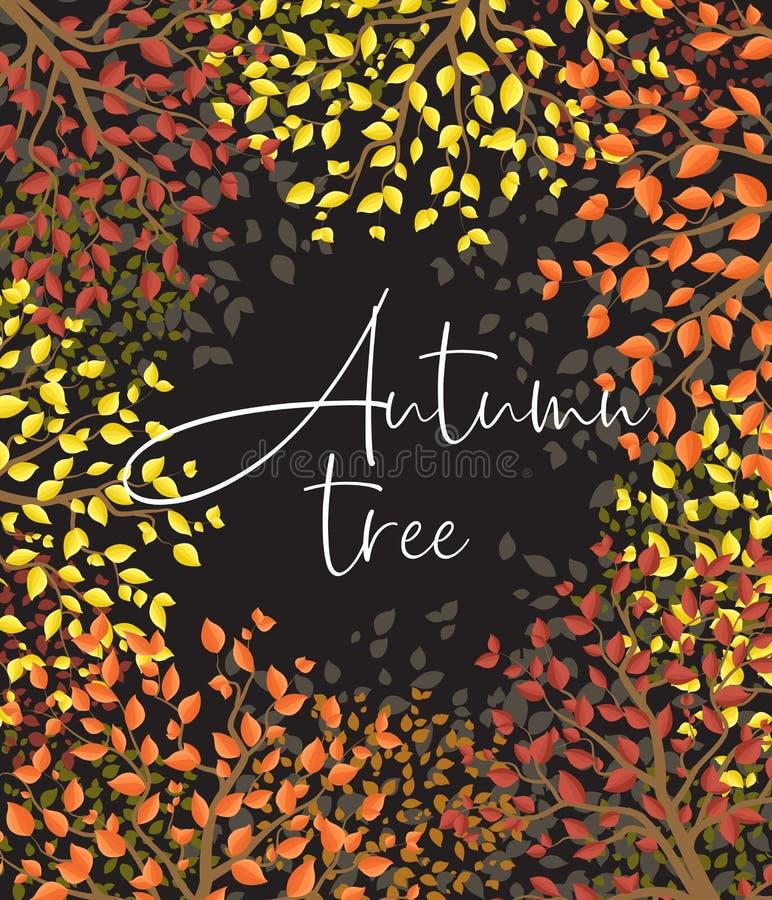 Mehrfarbiger Wald des Herbstes stock abbildung