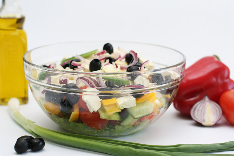 Mehrfarbiges Gemüse für Salat lizenzfreie stockfotos
