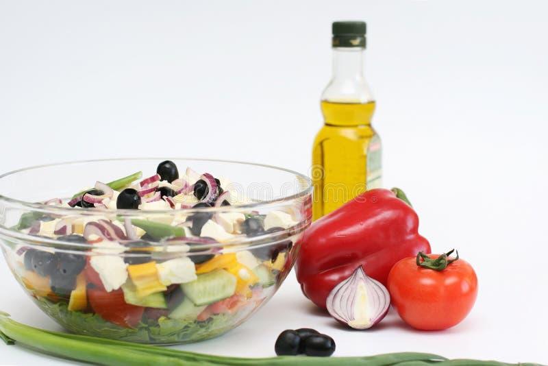Mehrfarbiges Gemüse für Salat stockbild
