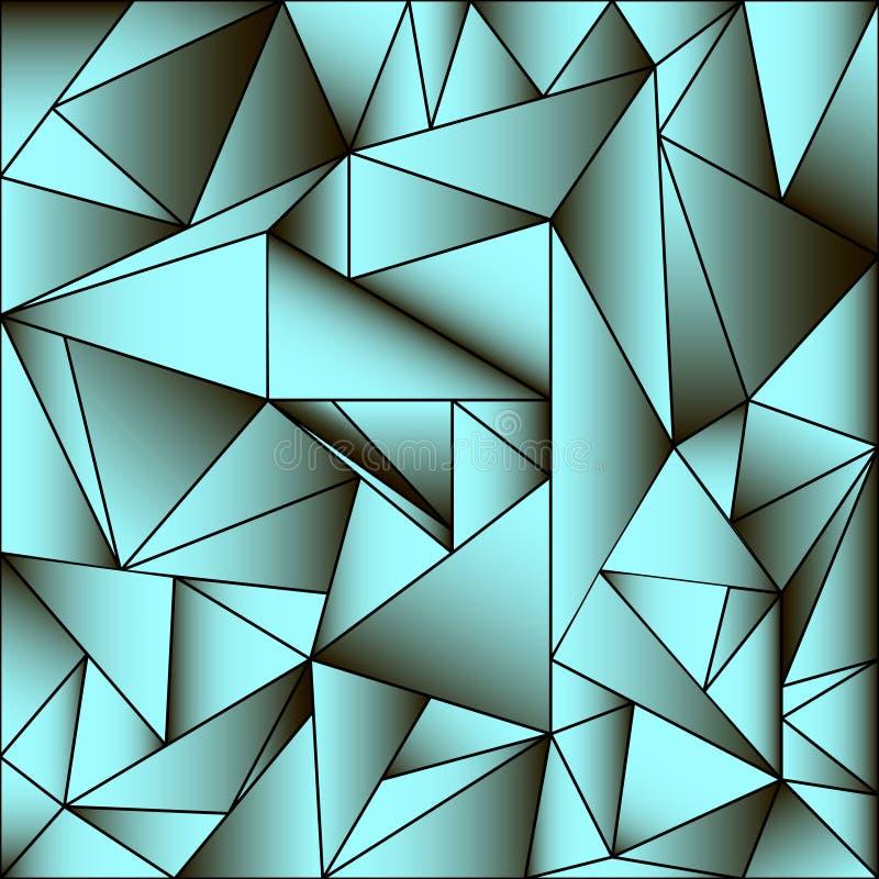 Mehrfarbiges geometrisches Muster der Zusammenfassung, das aus Dreiecken besteht lizenzfreie abbildung