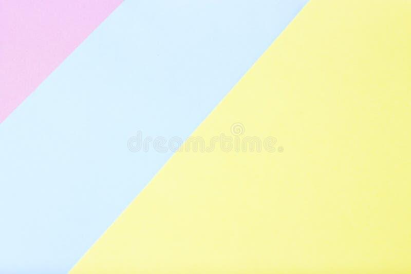 Mehrfarbiges Papier von Pastellfarben, Beschaffenheit, Hintergrund, geometrische Abstraktion stockfotografie