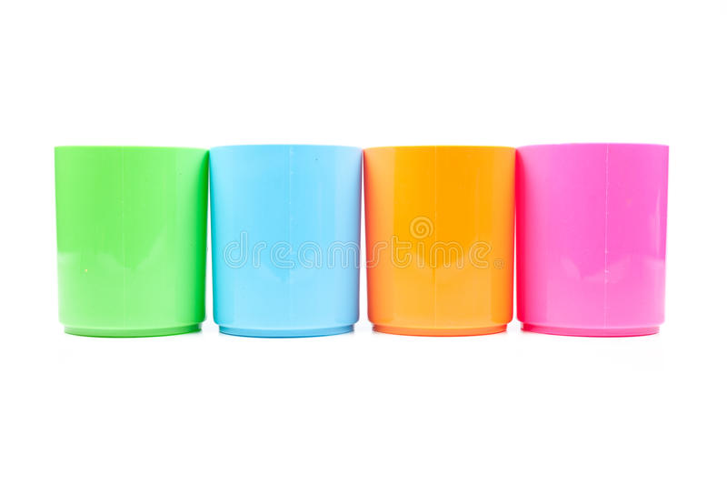 Mehrfarbiges Plastikglas lizenzfreie stockfotografie