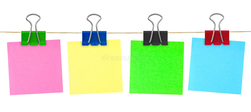 Mehrfarbiges Post-Itanmerkungspapier lizenzfreie stockbilder