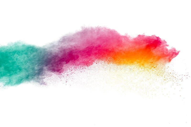 Mehrfarbiges Pulver splatted lizenzfreie stockfotografie