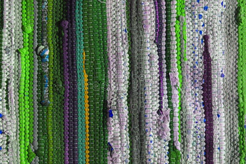 Mehrfarbiges Wolldeckenbeschaffenheitsmuster als abstrakter Hintergrund stockfotografie