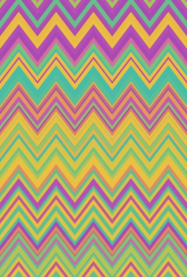 Mehrfarbiges Zickzackregenbogen-Wellenmuster klar vektor abbildung