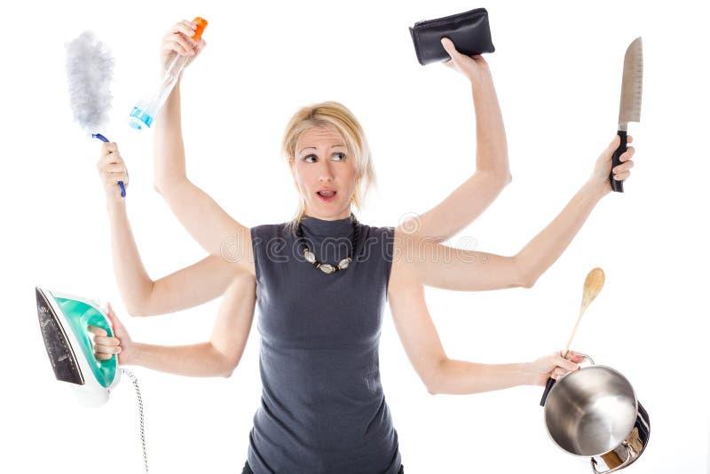 Mehrprozeßhausfrau lizenzfreies stockfoto