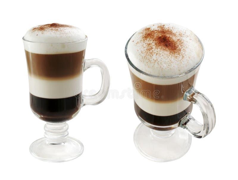 Mehrschichtiger Kaffee stockbilder