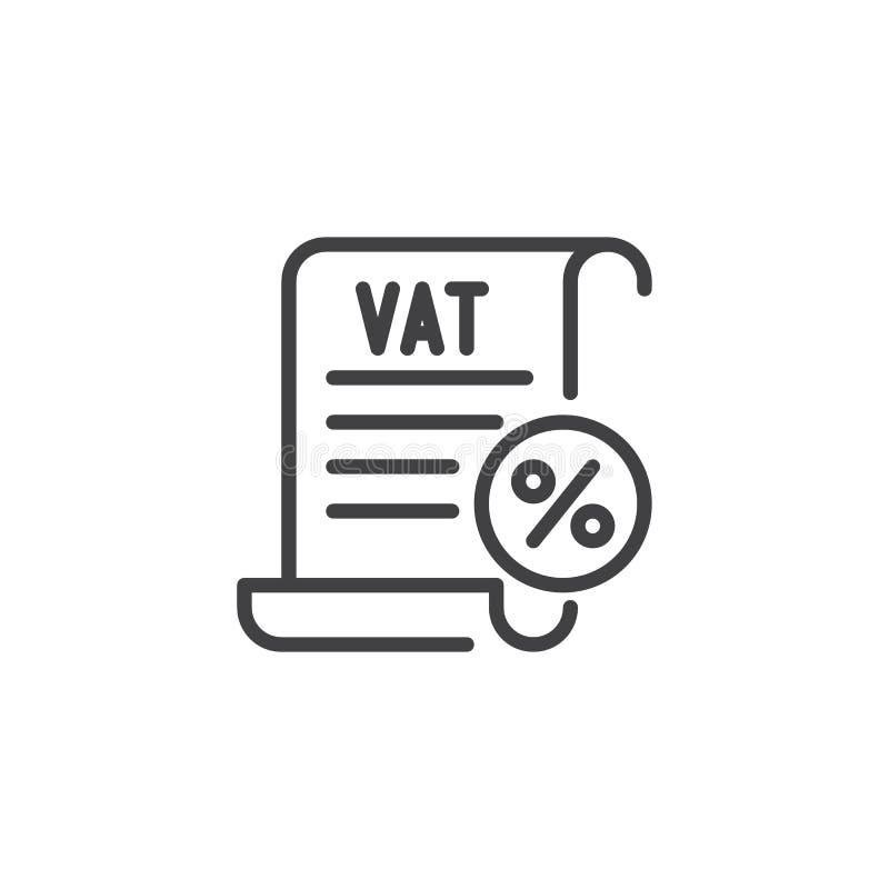 Mehrwertsteuer besteuert Entwurfsikone lizenzfreie abbildung