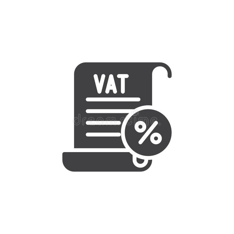 Mehrwertsteuer besteuert Vektorikone stock abbildung