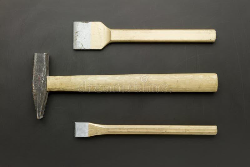 Meißel und Hammer lizenzfreies stockbild
