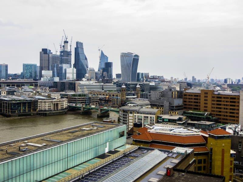 20 mei, 2018, Engeland Een panorama van Londen van de hoogte van het observatiedek van het Museum van Modern Art. royalty-vrije stock afbeeldingen