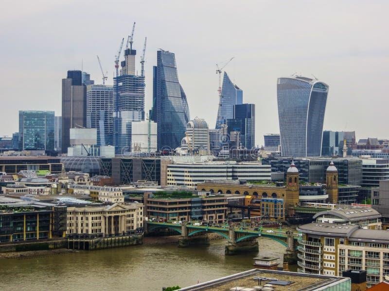 20 mei, 2018, Engeland Een panorama van Londen van de hoogte van het observatiedek van het Museum van Modern Art. stock afbeeldingen