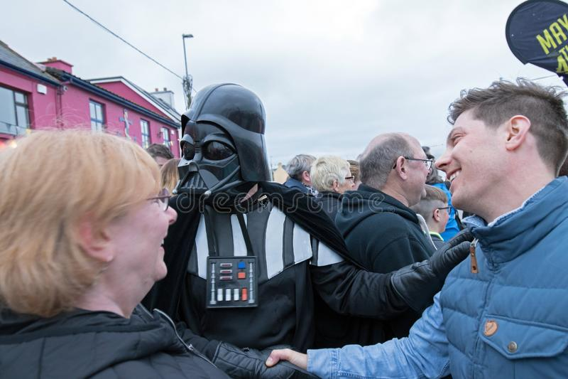Mei het vierde is met u Star Wars-festival stock foto