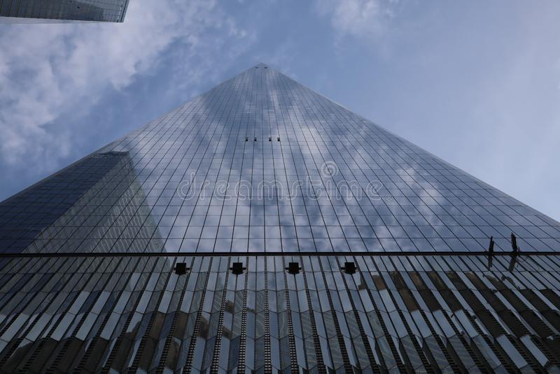 23 MEI, 2019 - New York, Verenigde Staten: One World Trade Center, Freedom Tower, de Stad van New York, Verenigde Staten World Tr stock afbeelding