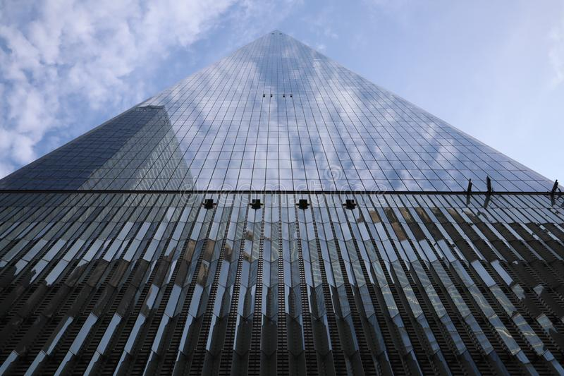 23 MEI, 2019 - New York, Verenigde Staten: One World Trade Center, Freedom Tower, de Stad van New York, Verenigde Staten World Tr stock afbeelding