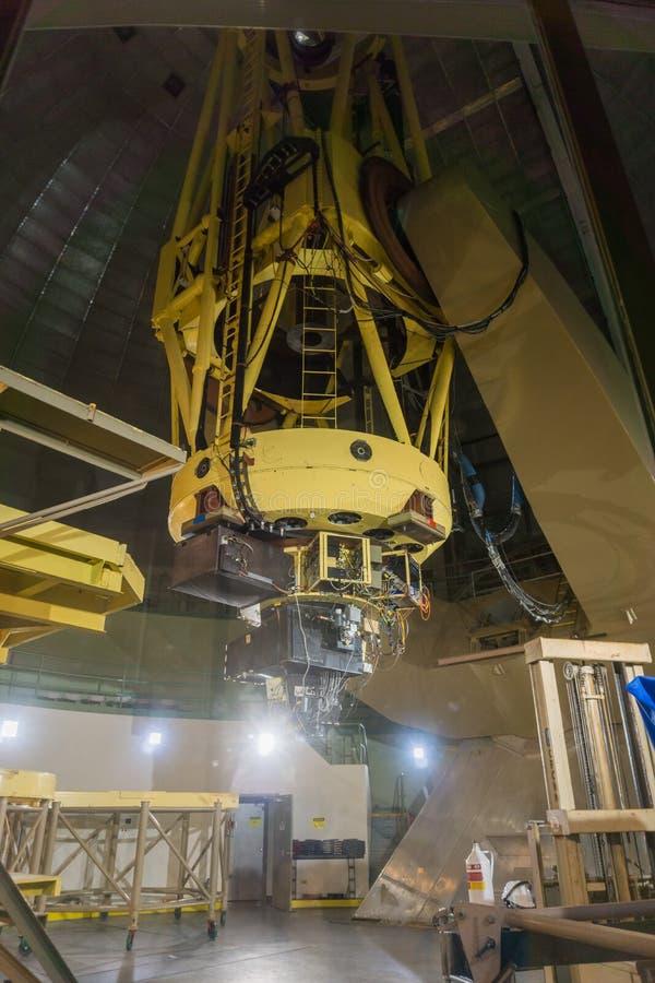 7 mei, 2017 San Jose/CA/USA - de telescoop van 120 duimshane bij Likwaarnemingscentrum - de baai zet van Hamilton op, Zuid-San Fr stock fotografie
