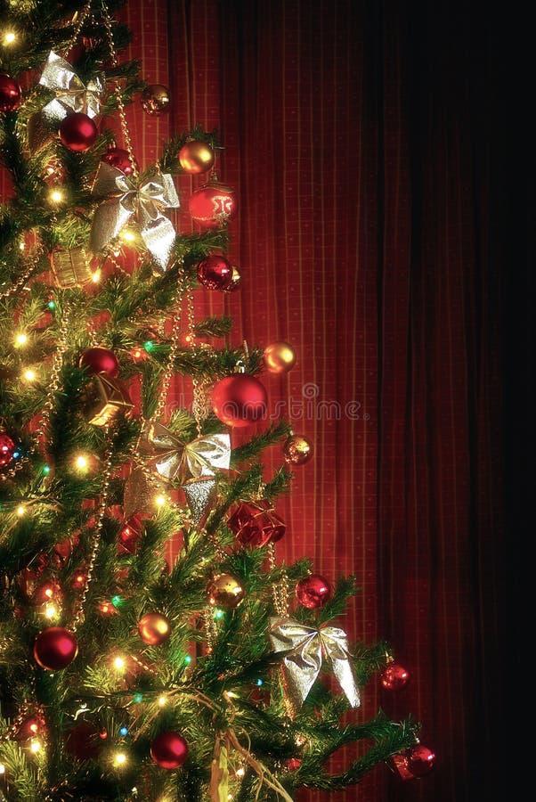 Meia árvore do Xmas fotos de stock