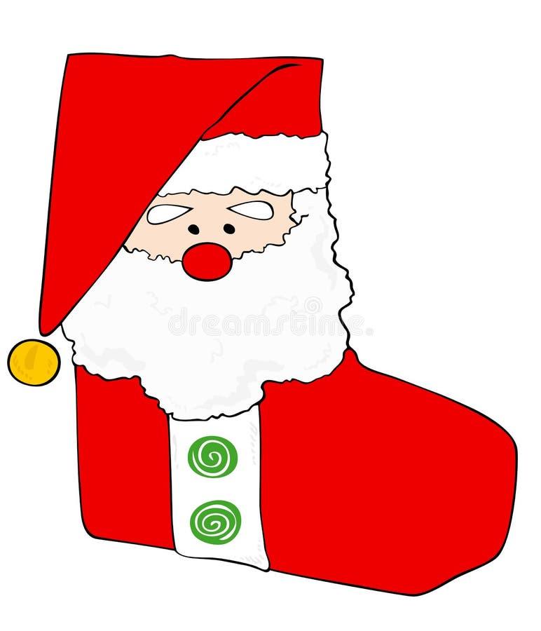 Meia do Natal. ilustração stock