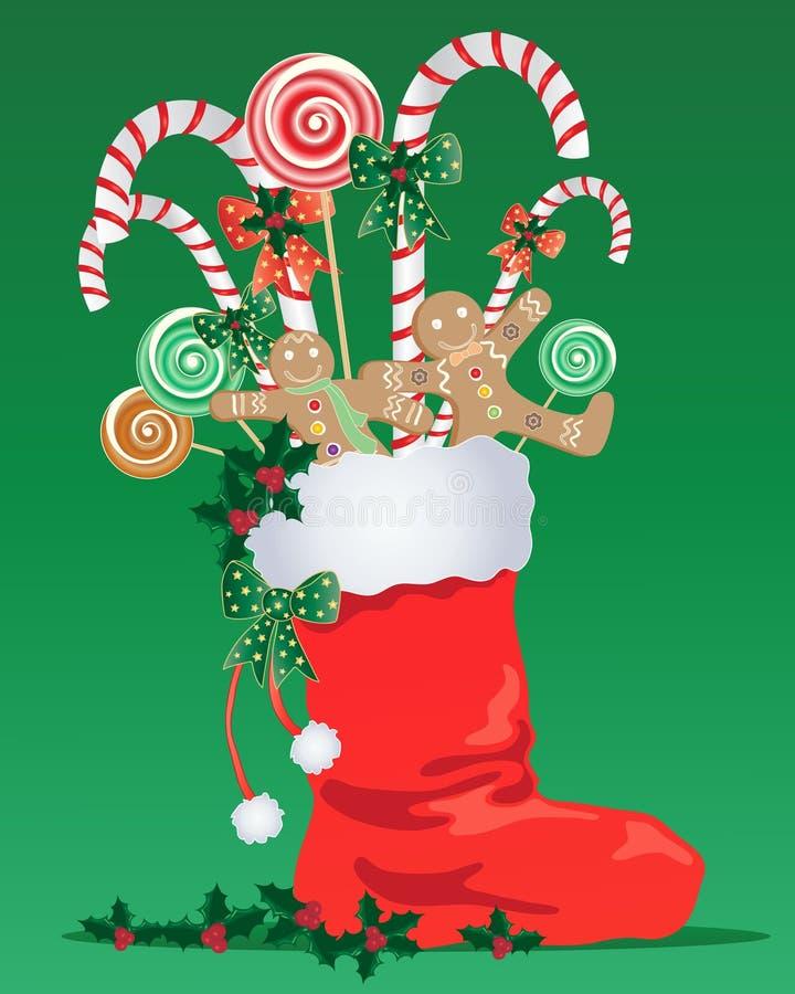 Meia do Natal ilustração royalty free