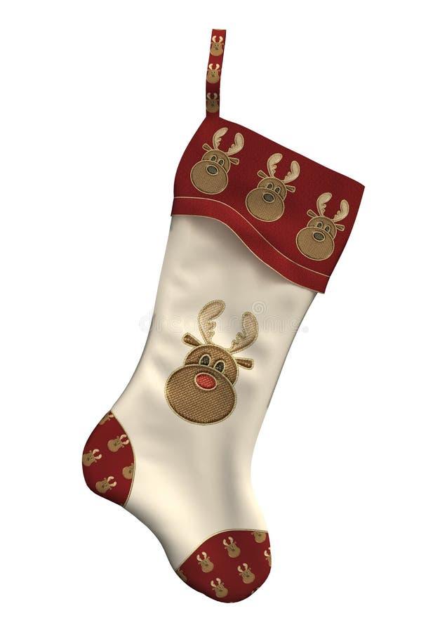 Meia do Natal ilustração stock