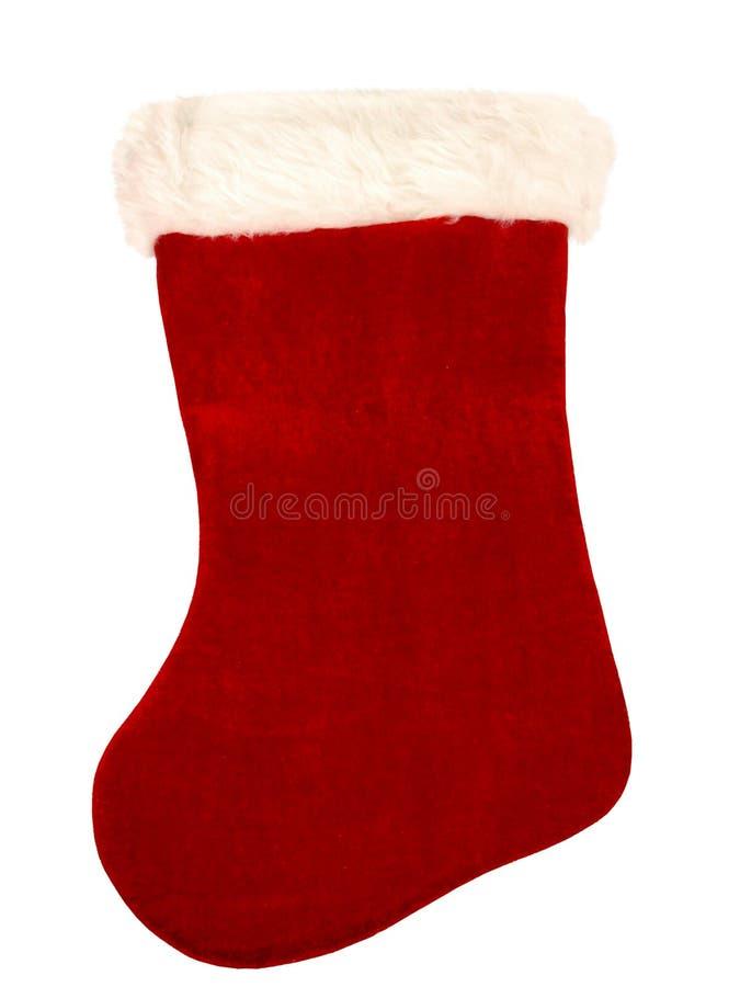 Meia Do Natal No Branco Fotografia de Stock