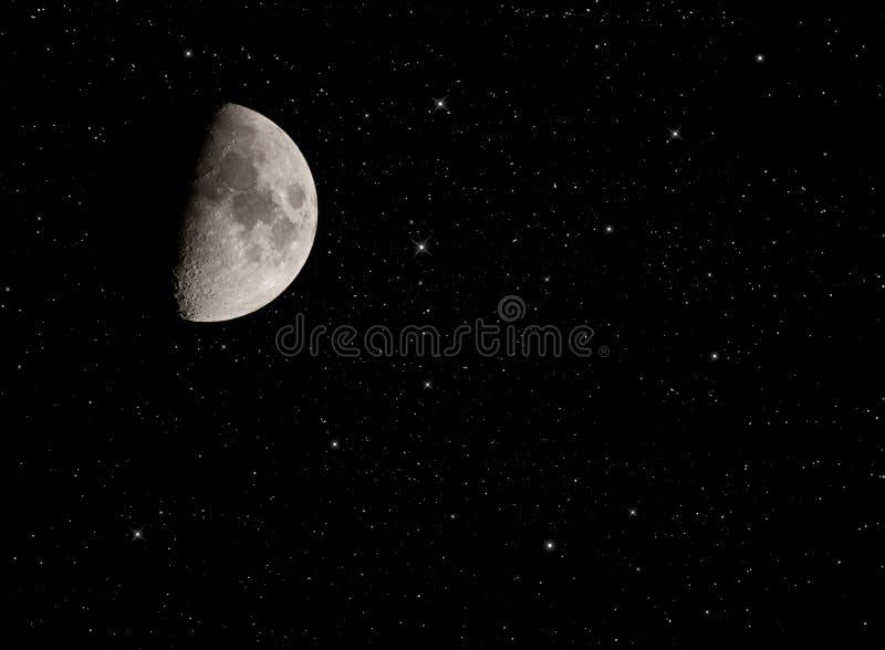 Meia lua com estrelas. fotografia de stock royalty free