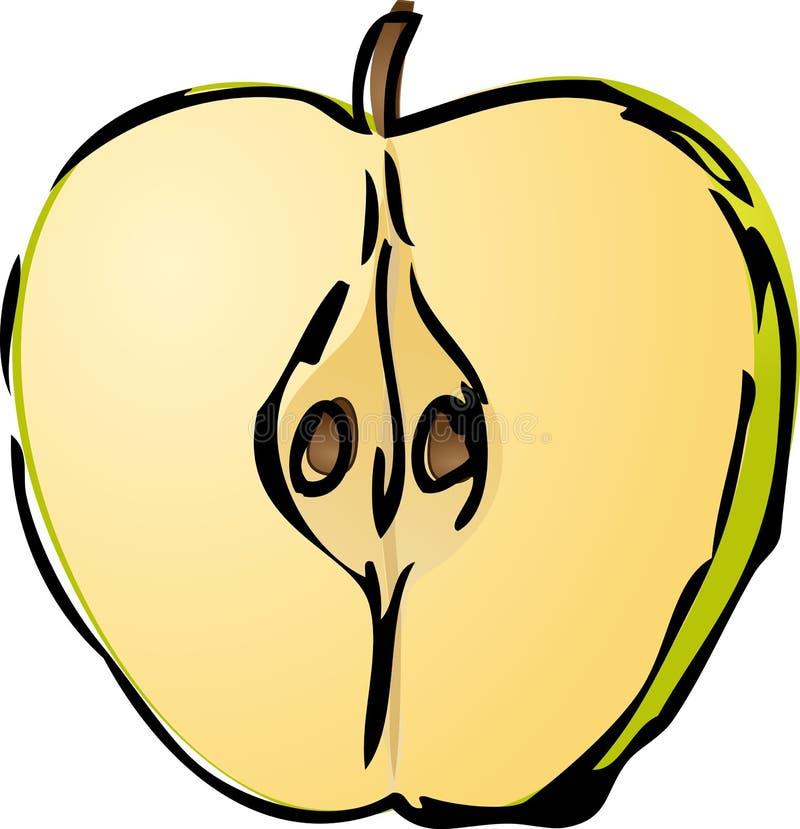 Meia maçã ilustração stock