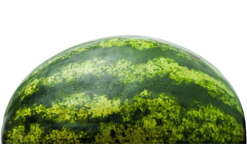 Meia melancia isolada no fundo branco Fruta popular imagens de stock royalty free