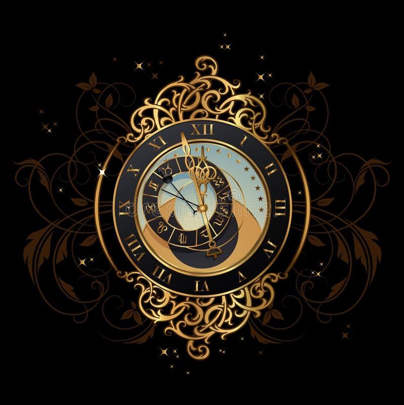 Meia-noite mágica ilustração royalty free
