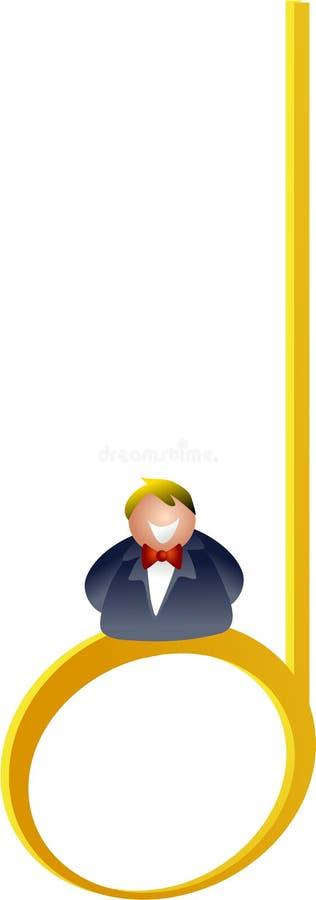 Meia nota ilustração royalty free